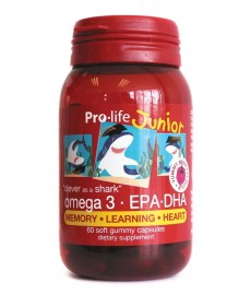Junior Omega-3 EPA DHA 60 soft gummy capsules