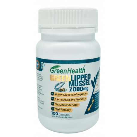 Green Lipped Mussel  7000mg 100 Capsules